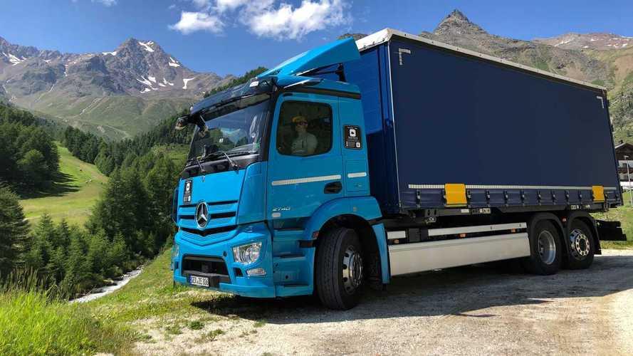 Mercedes-Benz eActros, completati i test ad alta quota