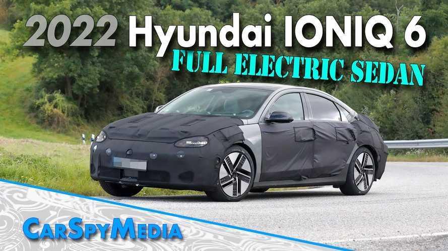 Hyundai Ioniq 6 Electric Sedan Spied Testing In Germany