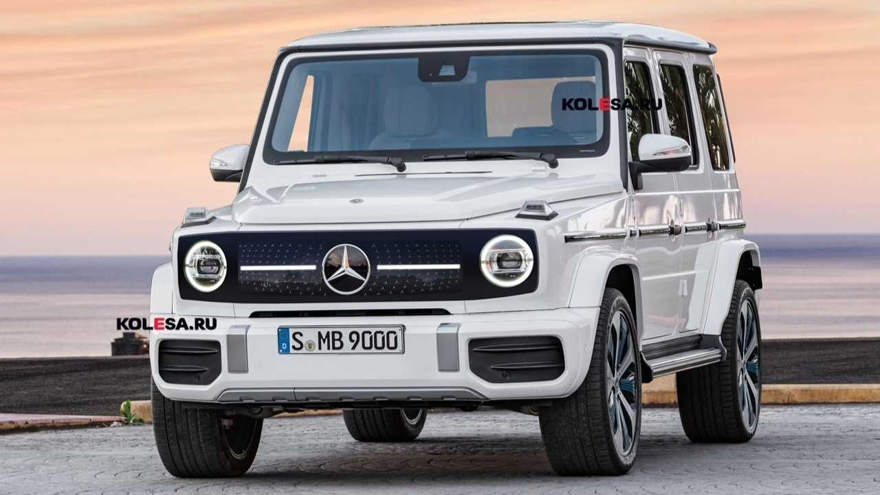 Mercedes EQG rendering