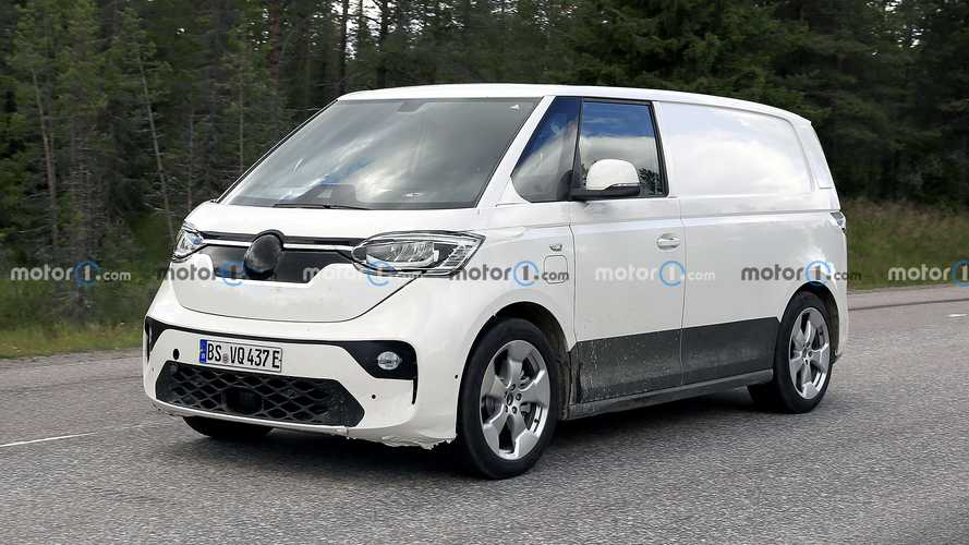 VW ID Buzz electric van spied showing similarities to the concept