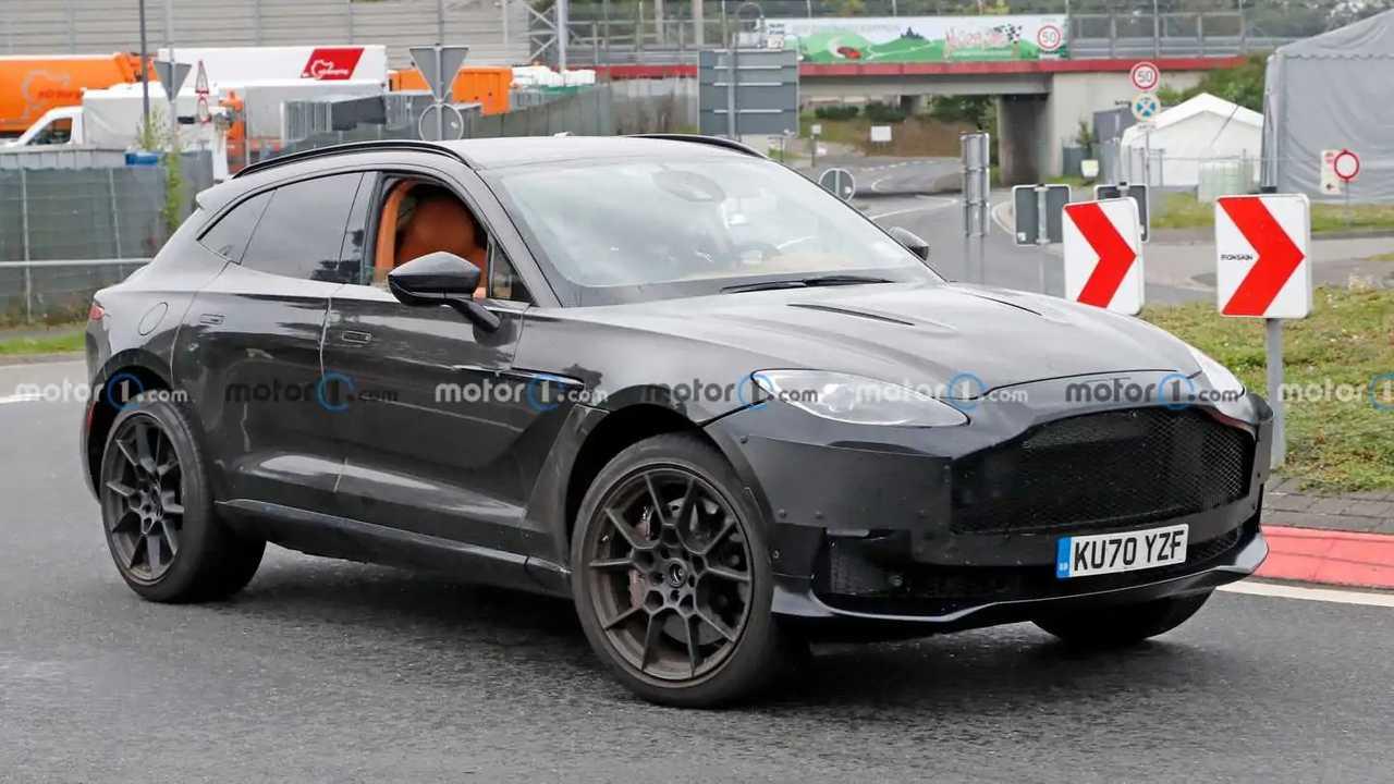 Aston Martin DBX spied on Nurburgring