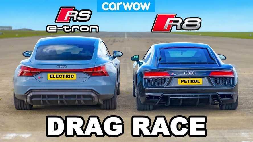 VIDEO - L'Audi RS e-tron GT domine l'Audi R8