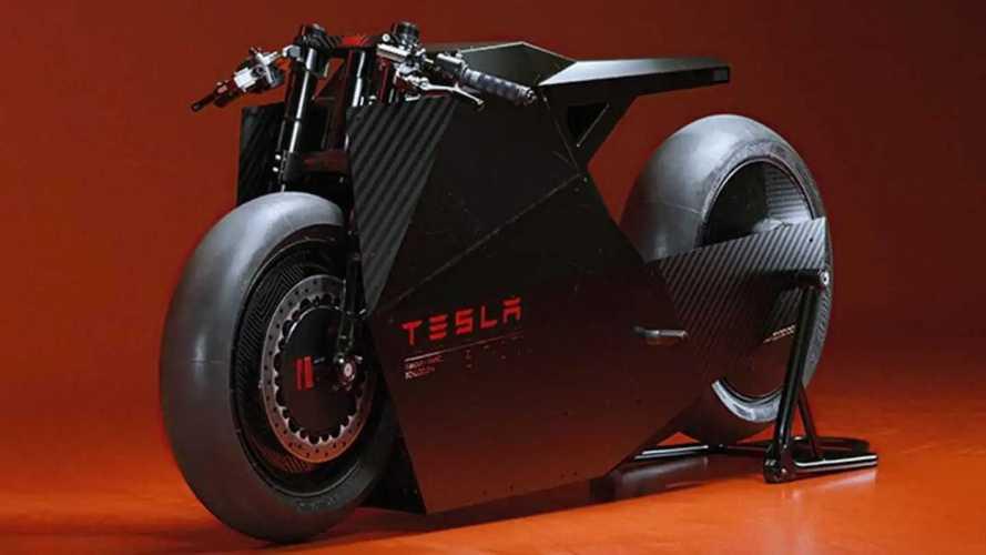 Conceito radical de moto elétrica da Tesla tem base no Cybertruck