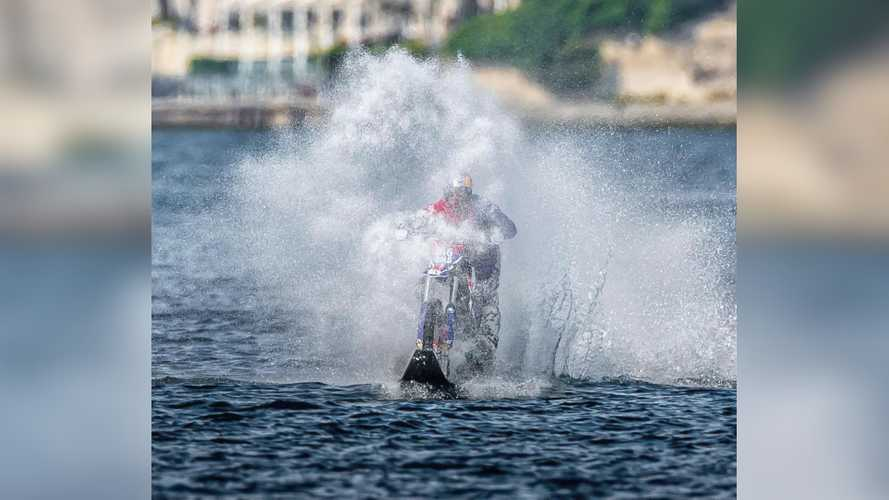 Watch Robbie Maddison Ride His Bike On Water From Europe To Asia