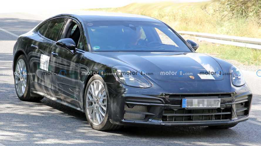 Porsche Panamera Turbo GT spied revealing aggressive front end