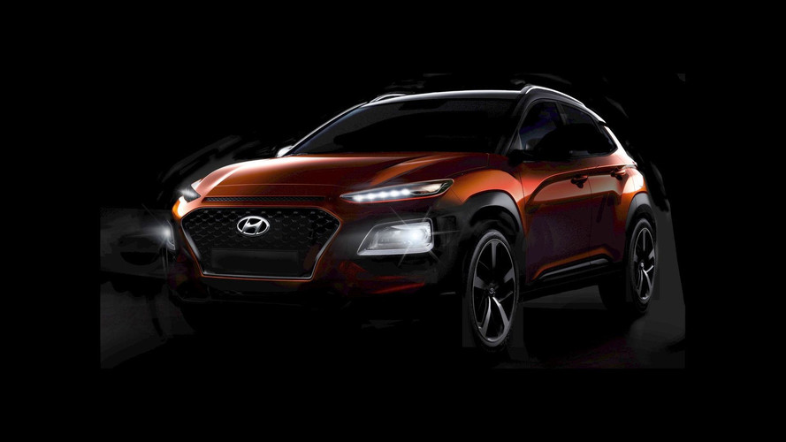 2018 Hyundai Kona teaser images (original and modified)