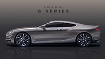 2018 BMW 8 Series Coupe render