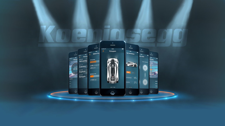 Koenigsegg's personal app shows where each hypercar is located