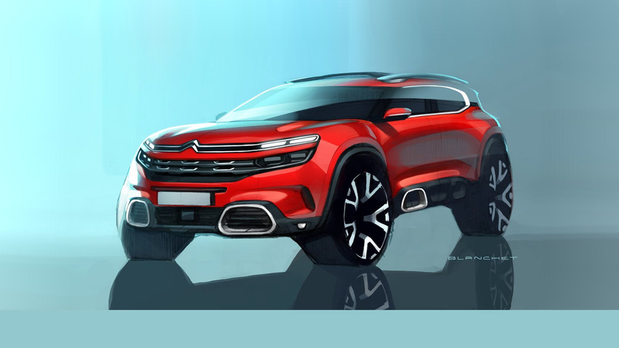 Citroën C5 Aircross sketches suggest bold styling for Shanghai reveal