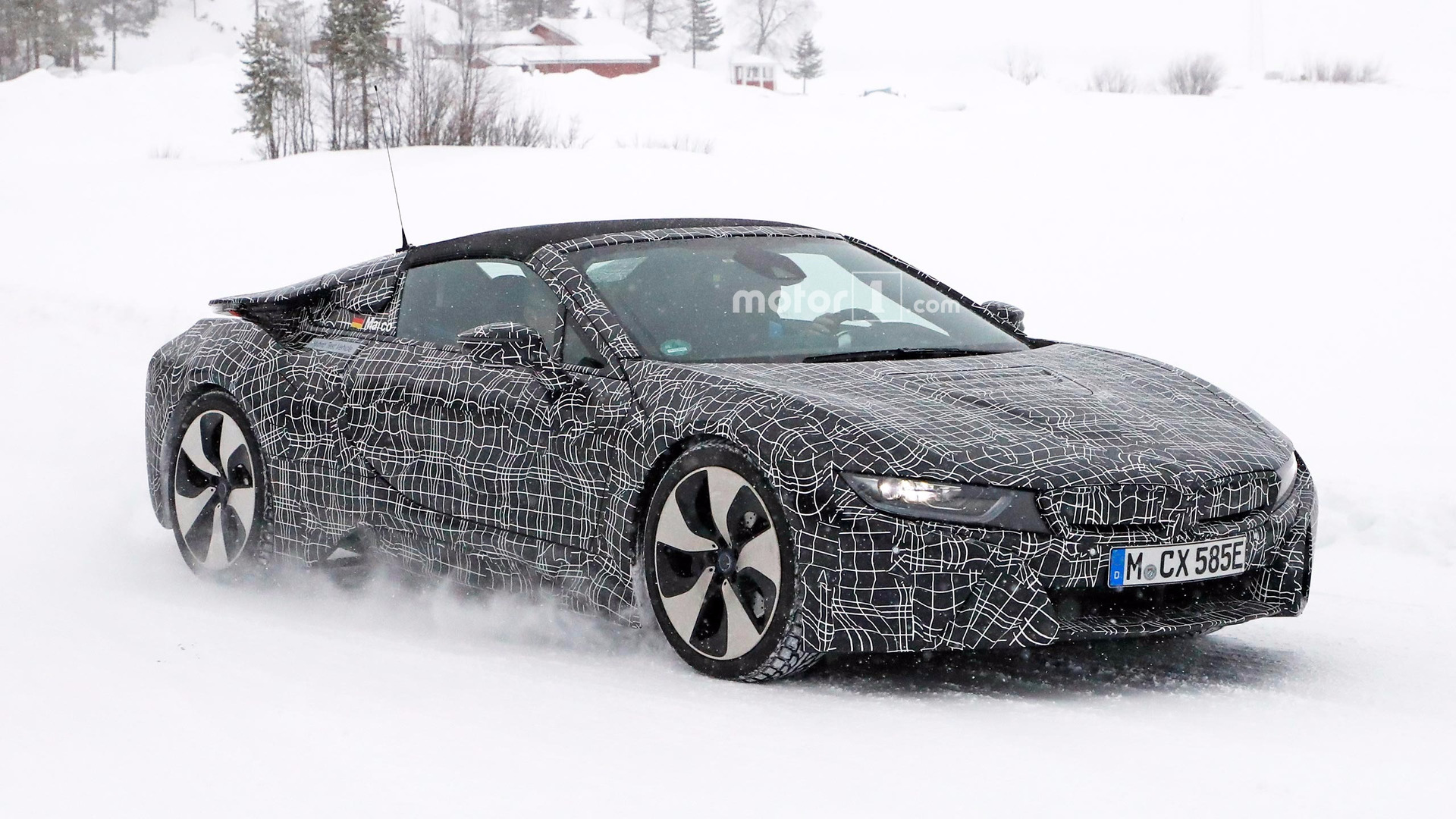 BMW I8 Spyder Spied Out Of Its Element In The Snow