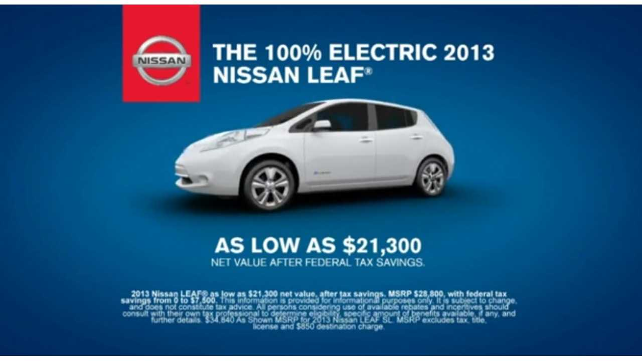 Data Shows 93 Percent of Those Who Obtained an Electric Vehicle in Late 2012 Choose to Lease Rather Than to Buy