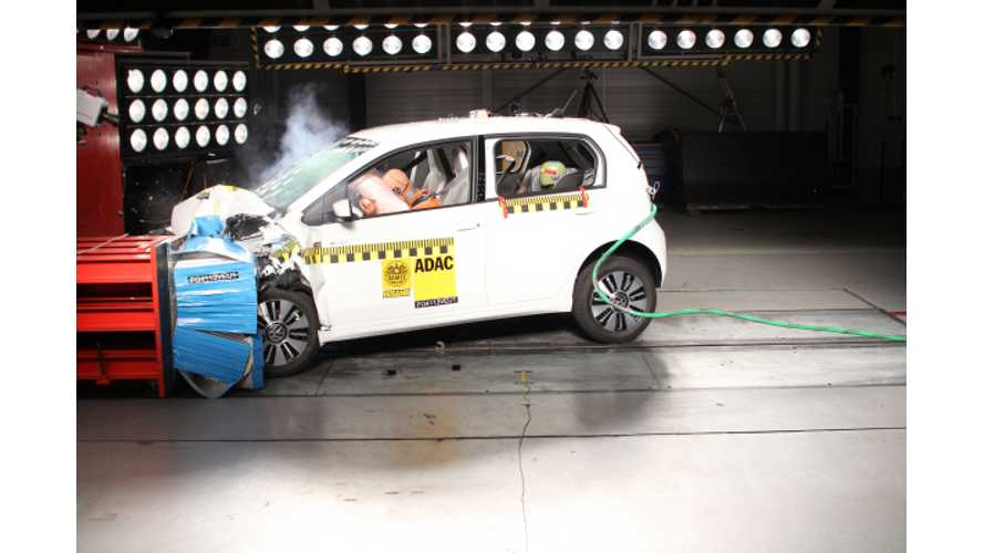 ADAC Crash Test: Volkswagen e-Up! (Video)