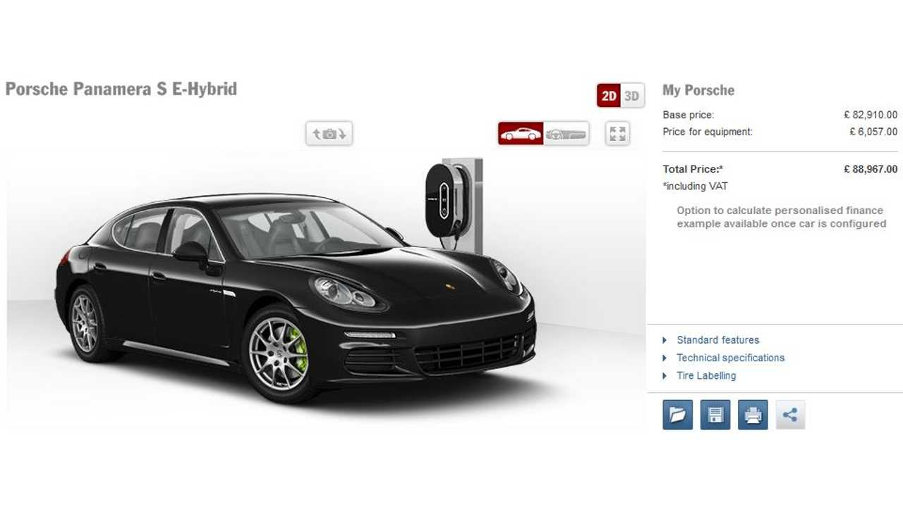 Panamera S E-Hybrid Build Your Own in UK