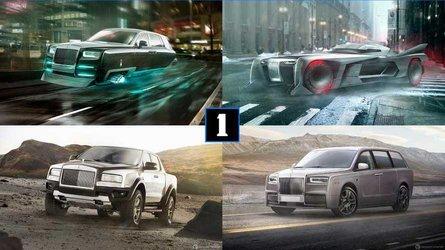 So könnte ein Pick-up, ein Hatchback oder ein ... Batmobil von Rolls-Royce aussehen