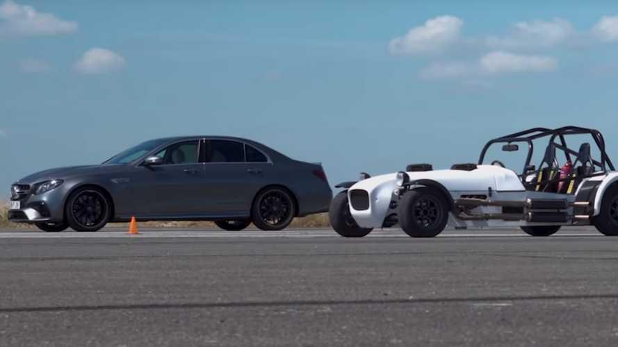 Mercedes AMG versus Kawasaki ZX-10R MK Kit Car
