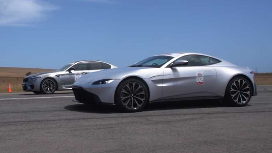 Aston Martin Vantage gets smoked by BMW M5 Competition in drag race