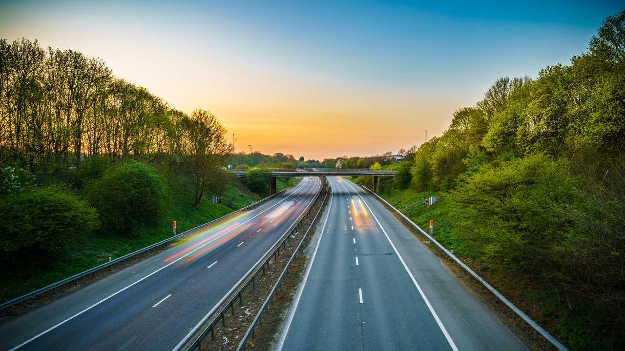 A1(M) motorway near Stevenage junction UK