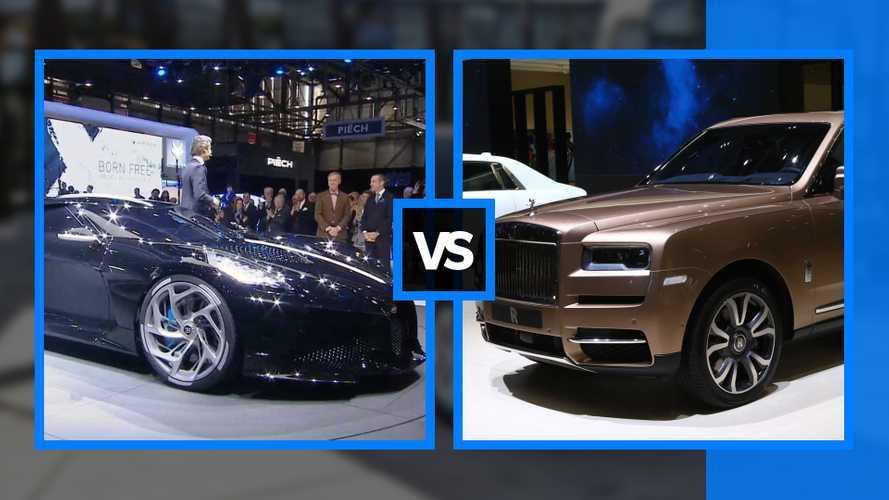 Bugatti vs Rolls Royce, a Ginevra la sfida impossibile
