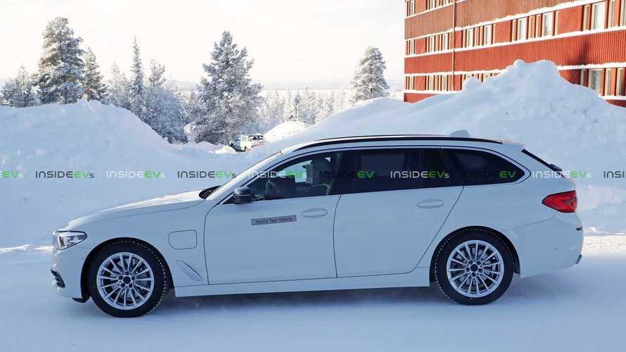 BMW 530e Touring Plug-In Hybrid Wagon Spied