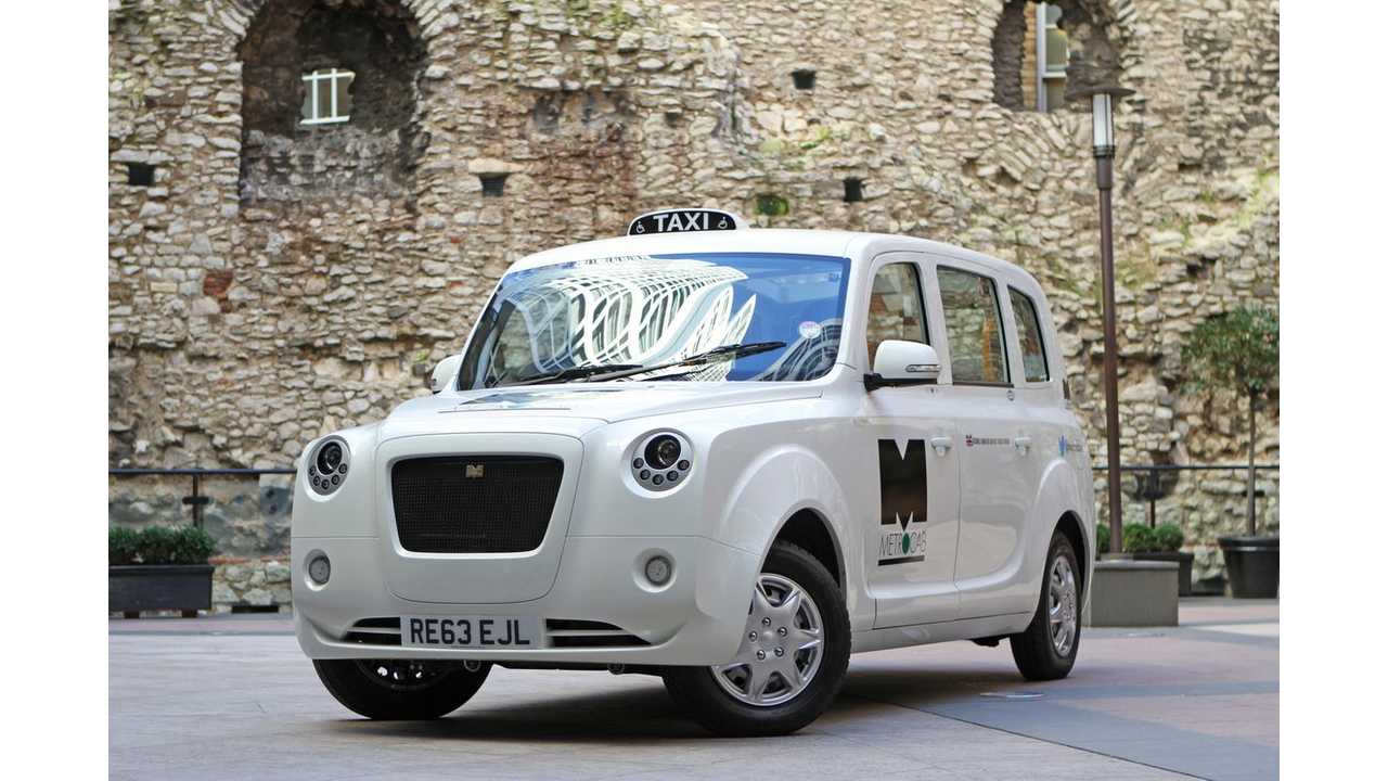 Range Extended Electric Metrocab taxi for London