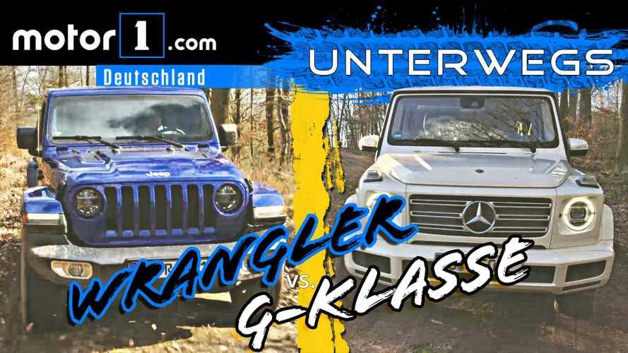Video: Mercedes G-Klasse vs. Jeep Wrangler im Vergleichstest