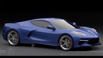 Mid-engined Chevy Corvette Render