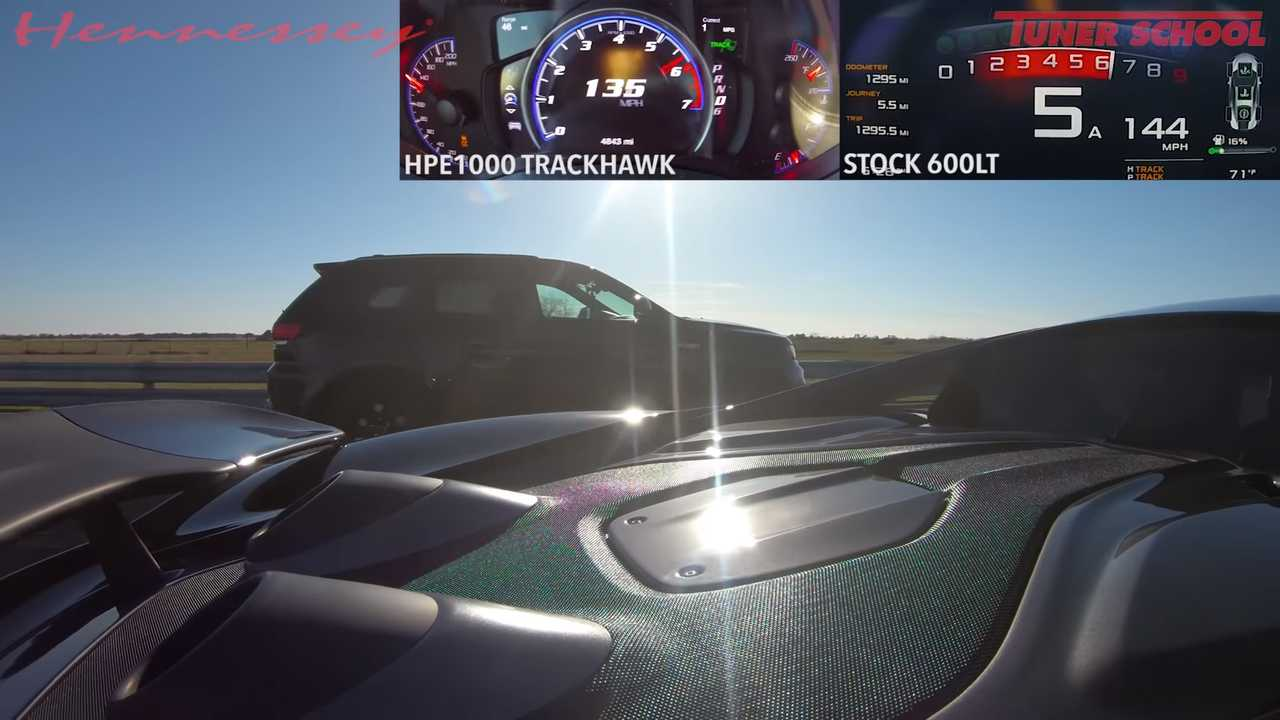 Hennessey Jeep Trackhawk Vs McLaren 600LT