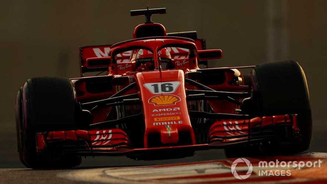 Charles Leclerc Abu Dhabi Nov 2018 testing