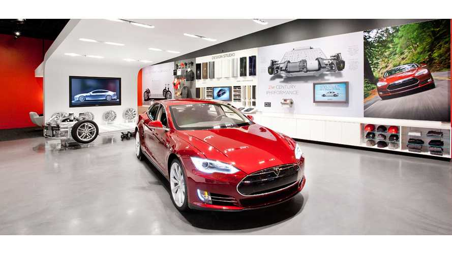 Tesla Motors Triples Size of Santana Row Showroom in San Jose, CA
