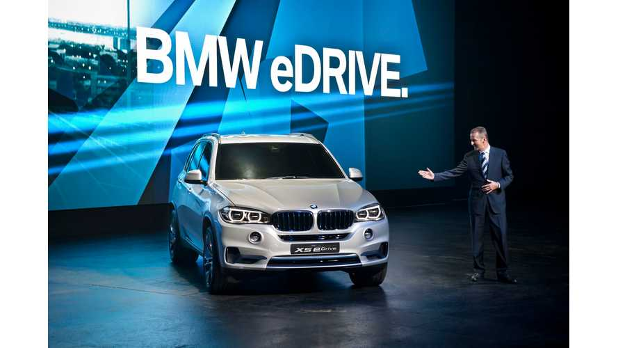 BMW Concept5 X5 eDrive Hits the Stage in Frankfurt
