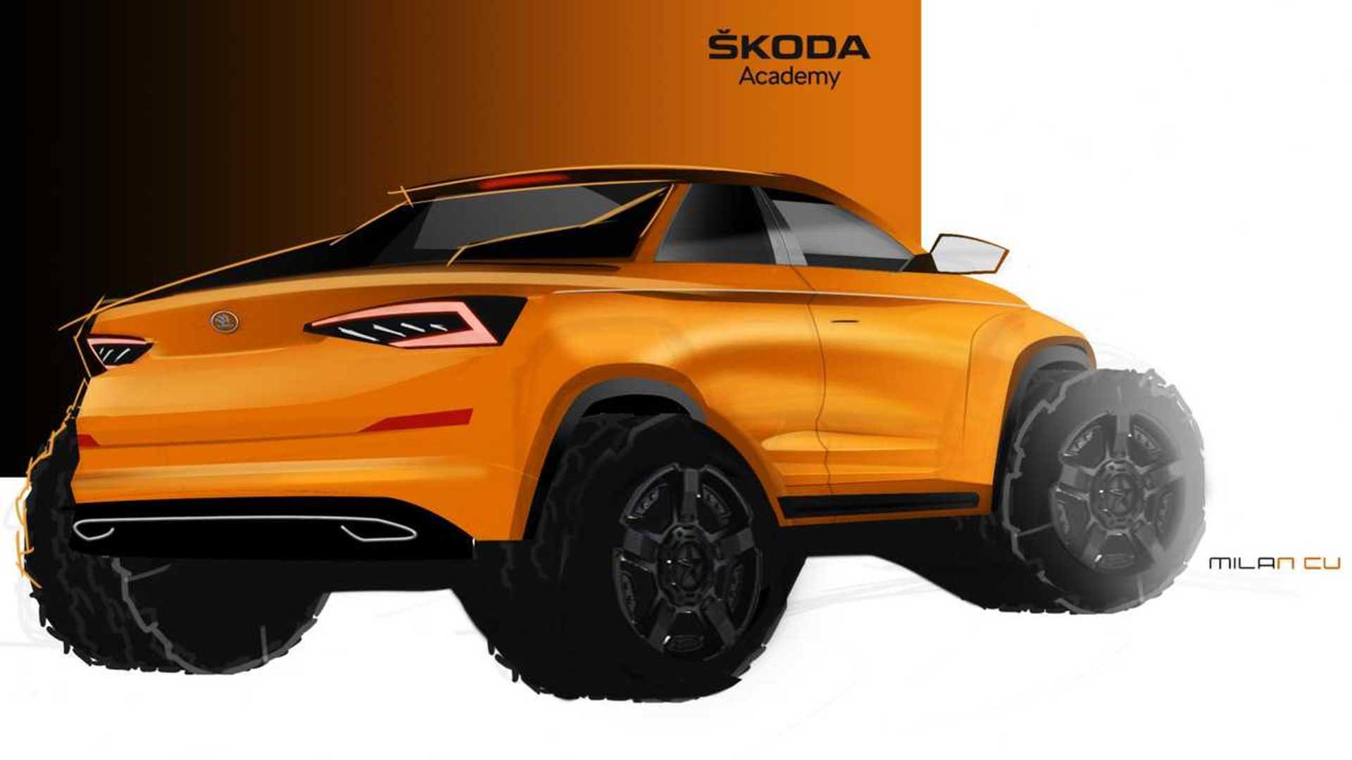 2019 - [Skoda] Mountiaq Concept Skoda-kodiaq-pickup-truck