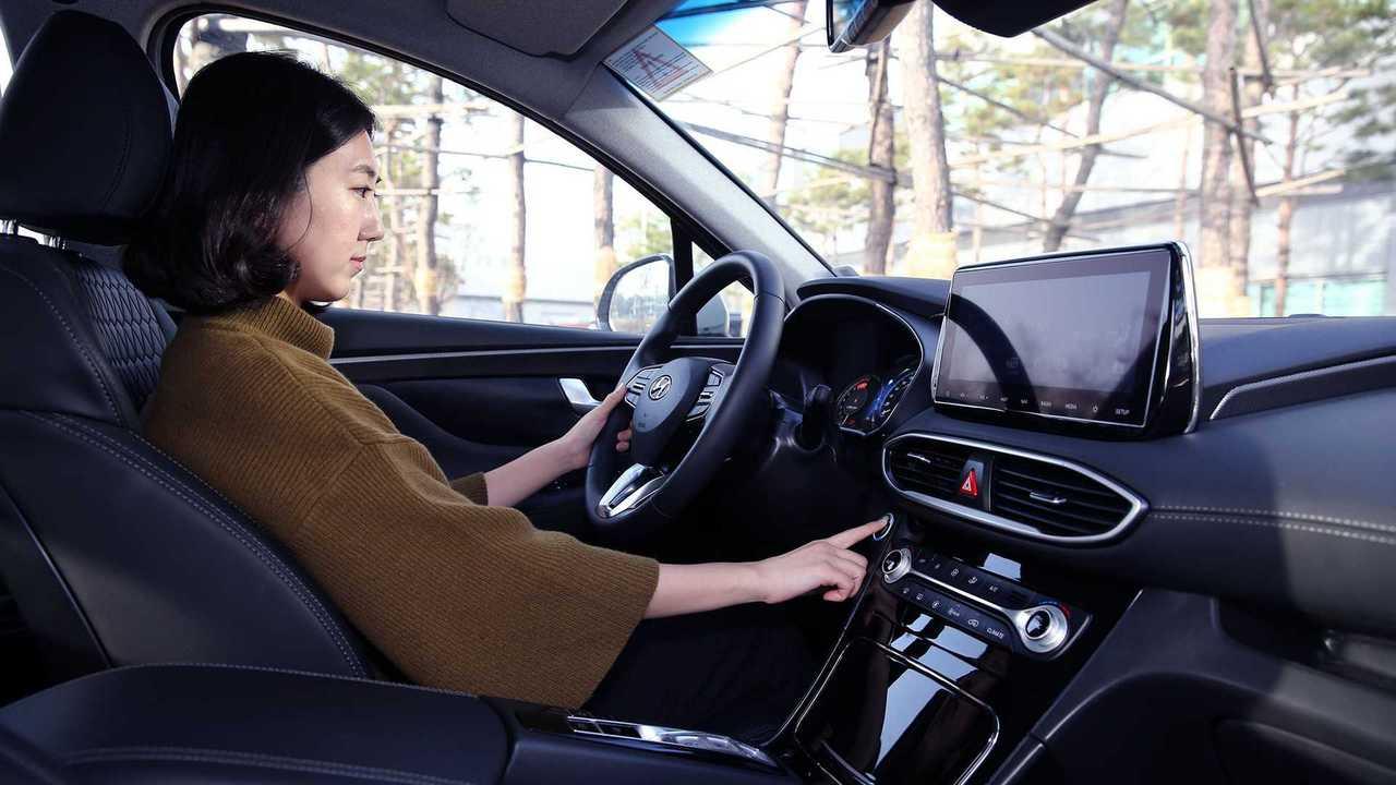 2019 Hyundai Santa Fe fingerprint recognition technology