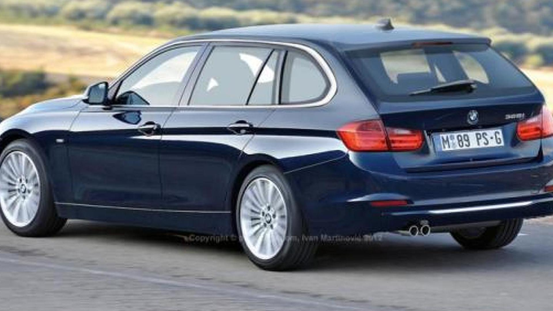 2013 BMW 3 Series Touring Wagon Latest Rendering And Spy Pics