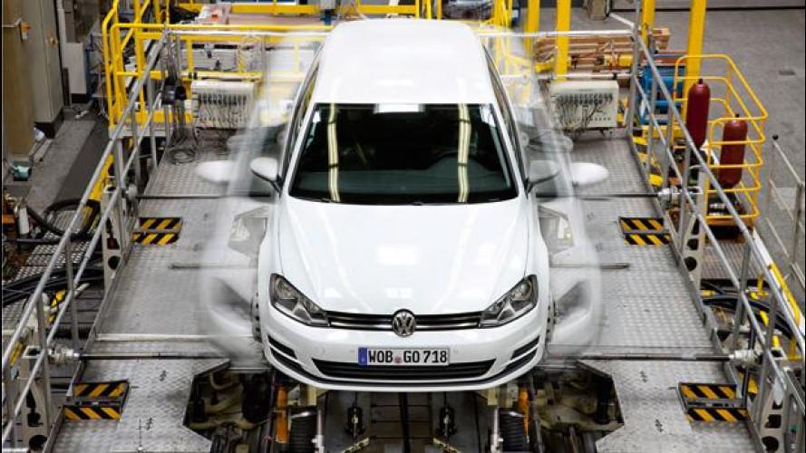Volkswagen Golf 7: le foto dello sviluppo