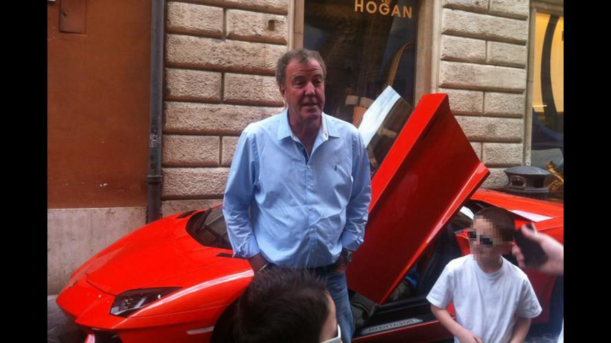 L'Aventador torna a Roma con Top Gear