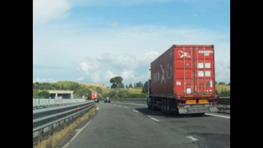 Più della metà delle merci trasportate in Italia parte dal nord
