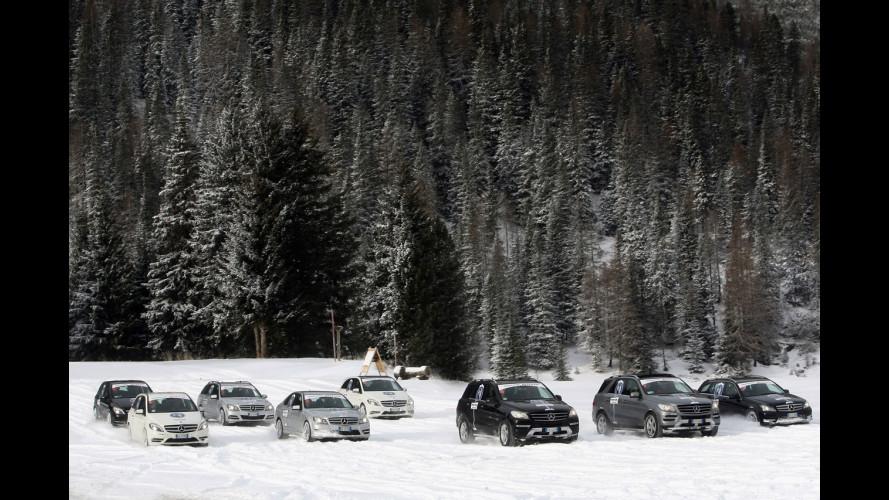 Sulle Dolomiti con i pneumatici invernali Bridgestone