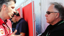 Claudio Albertini (ITA), Ferrari Head of Customer Teams Power Unit Operations, with Gene Haas (USA) / XPB