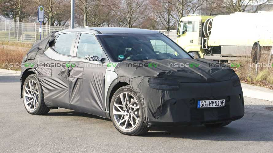 Genesis EV spotted looking very similar to the Hyundai Ioniq 5 under camo