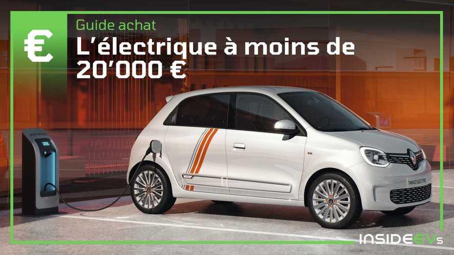 Neuf - Les meilleures voitures électriques à moins de 20'000 €