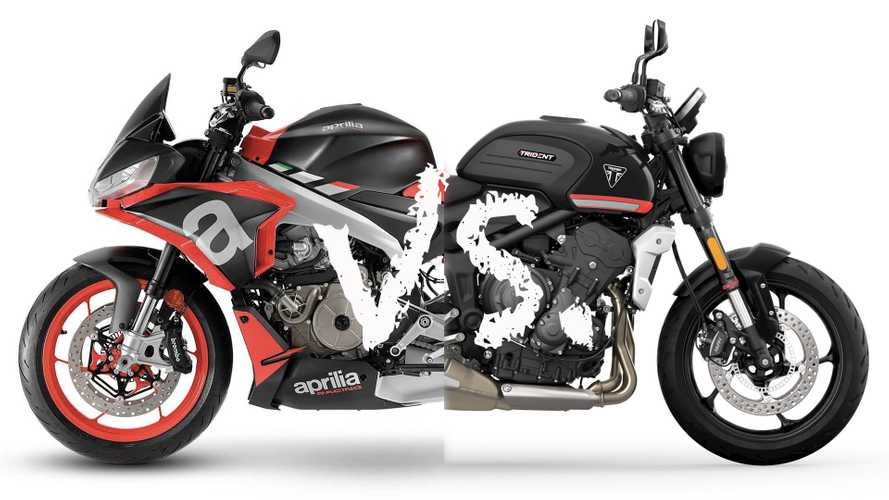 Spec Showdown: Aprilia Tuono 660 Vs. Triumph Trident