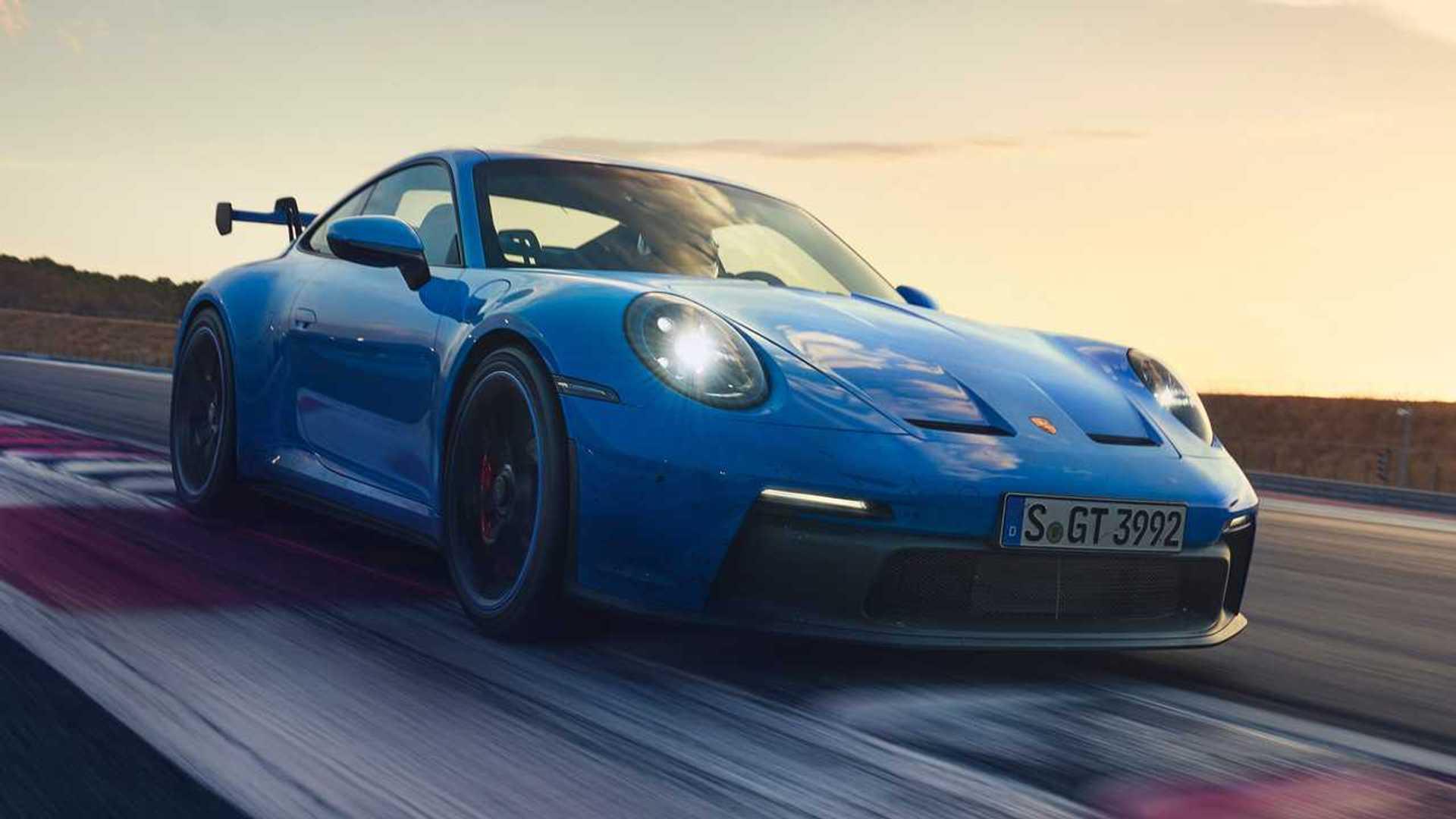 2022 Porsche 911 GT3  Nose Headlights On
