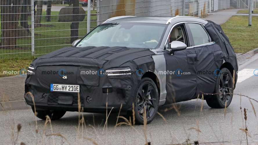 Genesis GV70e electric SUV spied in Germany