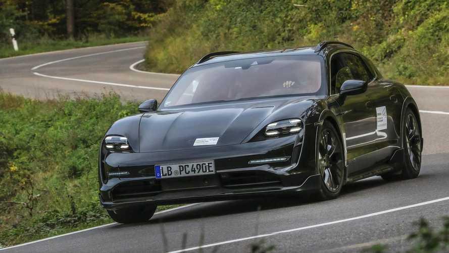 2022 Porsche Taycan Cross Turismo teasers