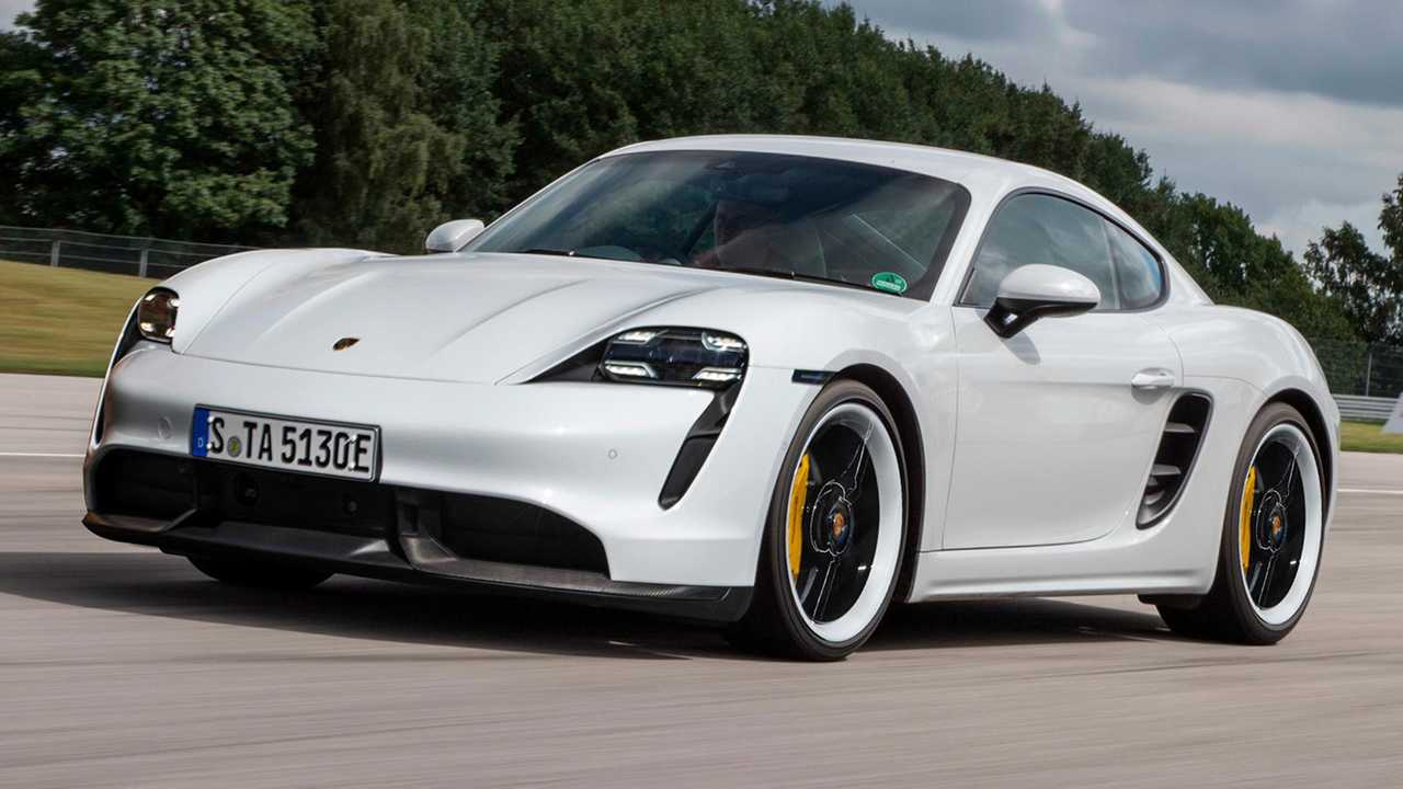 porsche taycan on 718 cayman looks so