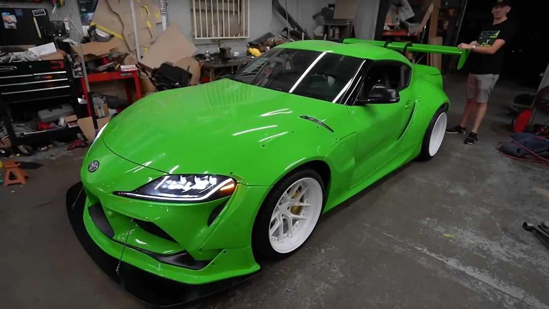 Toyota Supra 2020 Lime Green