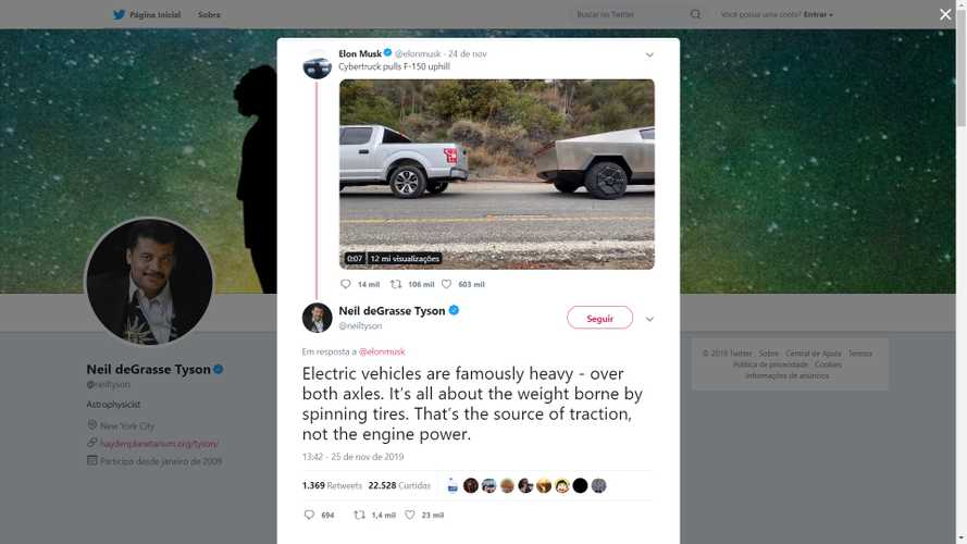 Tesla Cybertruck Encourages Physics Discussion Between Neil deGrasse Tyson And Elon Musk