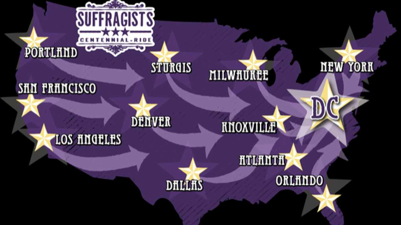 Suffragists Centennial Motorcycle Ride