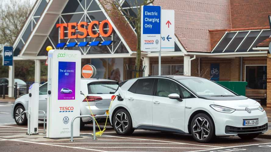 VW, Tesco and Pod Point Launch Over 100 Charging Stations In UK