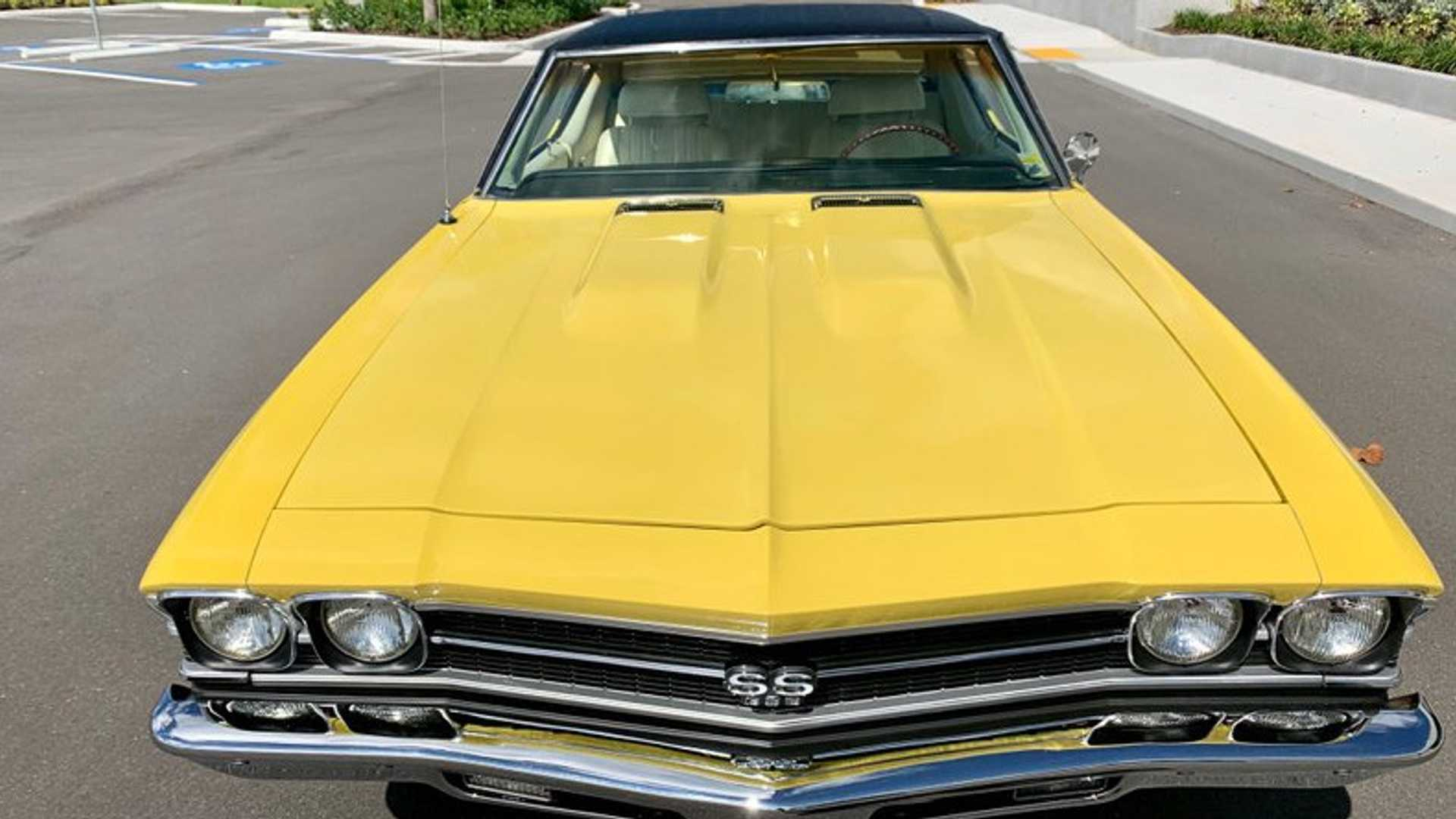 """[""""Authentic 1969 Chevrolet Chevelle SS396 Looks Great In Daytona Yellow""""]"""